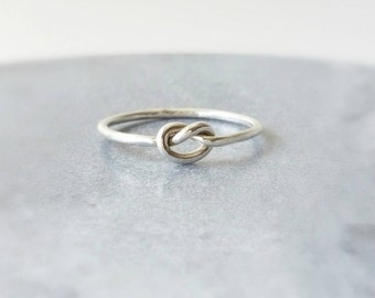 Sterling Silver Ring -  Knot ring - Stackable Ring - Statement ring - Handmade