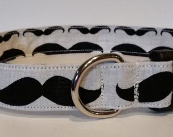 Mustache dog or cat collars