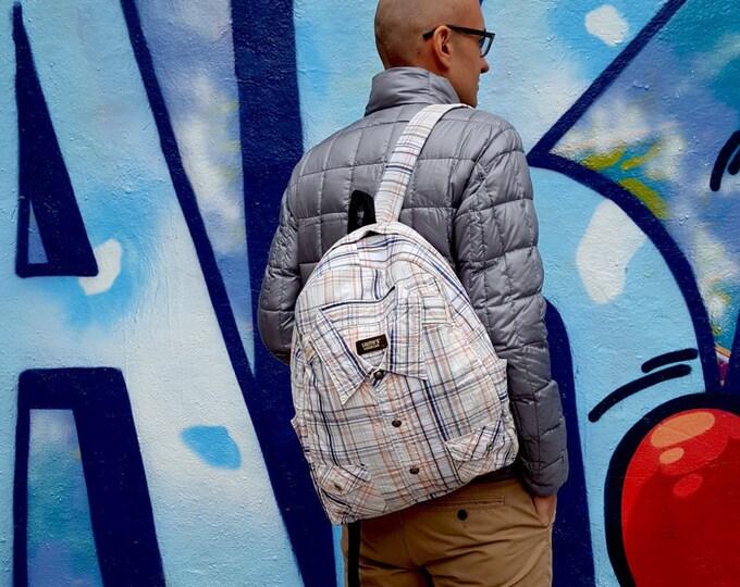 Cool backpack, designer backpack, festival backpack, striped backpack, yoga backpack, messenger backpack, fashion backpack, fabric backpack