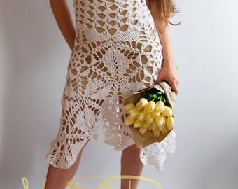 BOHO Crochet Dress.Dresses for women. Dresses.Clothing.Beach wedding dress.Crochet boho dress.Lace dress.Knit dress.Bohemian clothing. Sexy