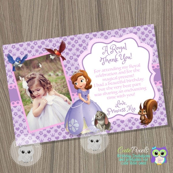 Sofia the first thank you card princess sofia thank you card il570xn bookmarktalkfo Image collections