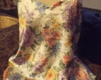 SALE Womens Silky Floral Camisole Top Large Lingerie