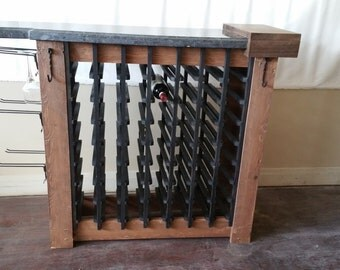 Wood and Marble Wine Rack