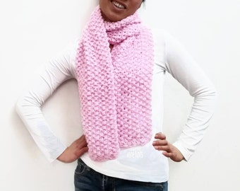 Pink Scarf, Handmade Knit, Womens Gifts, Gift For Her, Womens Scarf, Pink Cowl, Pretty In Pink, Fashion Scarf, Pink Neckwarmer, Soft Pink