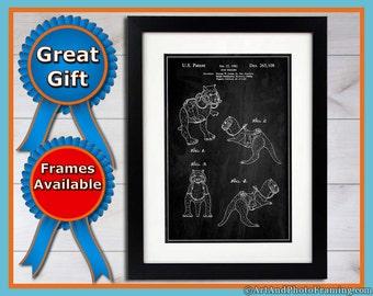 Taun Taun Patent Print Star Wars Decor Taun Taun Poster Star Wars Wall Art Taun Print Fathers Day Star Wars Posters Taun-Taun Decor Gifts