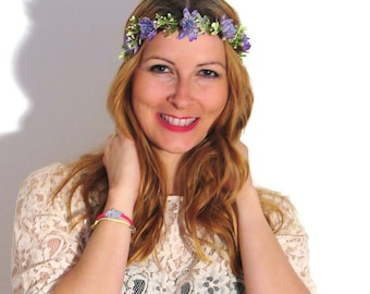 Flower Crown «Purple Midsommar»