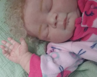 READY TO SHIP Reborn Baby Doll with Rooted Hair Libby by Cindy Musgrove 3 to 6 month Old