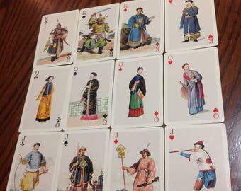 Chinese Costume Playing Cards