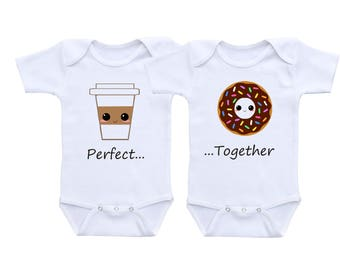 Twin Baby Clothes or Gerber Onesies® Twin Onesies® Twin Outfits Boy Girl Twins Baby Gifts Twin Baby Boys Twin Baby Girls Twin Baby Shower