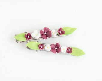Hair Clip Barrette Flower Hair Clip Set Hair Clips Women Unique Hair Accessories Cute Hair Clips for Women Flower Barrettes Flower Accessory