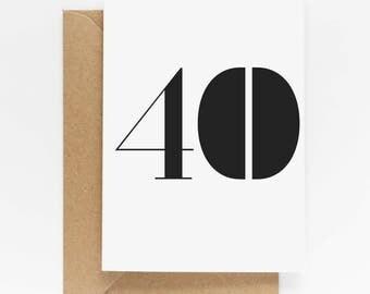 40th Birthday Milestone Card