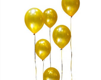 """100 pieces 12"""" Gold Latex Balloons // Birthday Party, Baby Shower, Bridal Shower, Wedding Shower, Anniversary, Valentines Day"""
