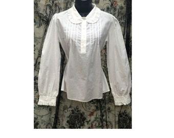 ORIGINAL 80s Laura Ashley Ladies Cotton Blouse, Edwardian Style Blouse, Vintage Blouse, Cotton Blouse, Vintage Ladies Clothing, Formal Top