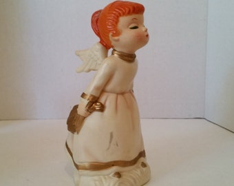 Vintage Christmas Kissing Angel