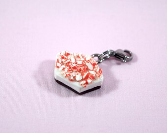 Peppermint Charm ; Peppermint Bark ; Cute Miniature Food Jewelry