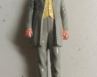 """Millard Fillmore VINTAGE MARX US President # 13 Hand Painted figure 2.75"""",vg+ 1960s"""