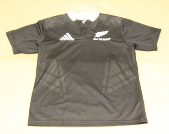 New Zealand All Blacks Rugby Jersey - VTG Adidas Rugby - YOUTH XL