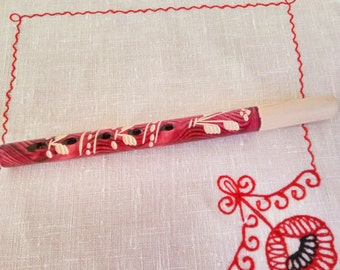 Ukrainian sopilka, Folk musical instrument, Handmade panpipe, Wooden musical instrument, Music Sopilka, Vintage toy, Wind musical instrument