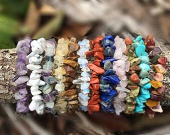 Stretchy Crystal Bracelet / Stone Chip Bracelet / Crystal Strecth Bracelet / Crystal Chip Bracelet / Crystal Chip Stretch Bracelet
