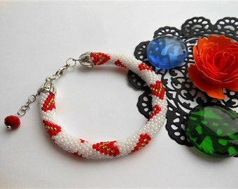 Beaded bracelet Heart bracelet Charm bracelet Friendship bracelet Valentine bracelet Heart bead bracelet Love bracelet Valentine gift