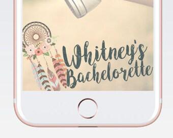 Custom Snapchat Geofilter Baby Shower Birthday Bachelorette Dreamcatcher