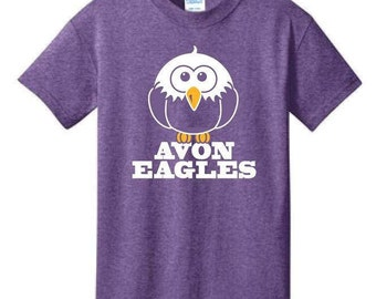 Heather Purple Avon Eagles T-Shirt - M