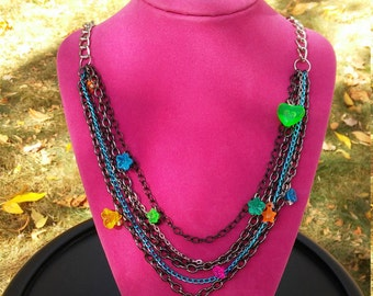Multi-chain and multi-charm necklace