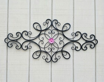 Wrought Iron Wall Art / Metal Wall Art / Large Metal Wall Art / Large Wrought Iron Wall Decor / Metal Wall Decor  / Flower Wall Decor