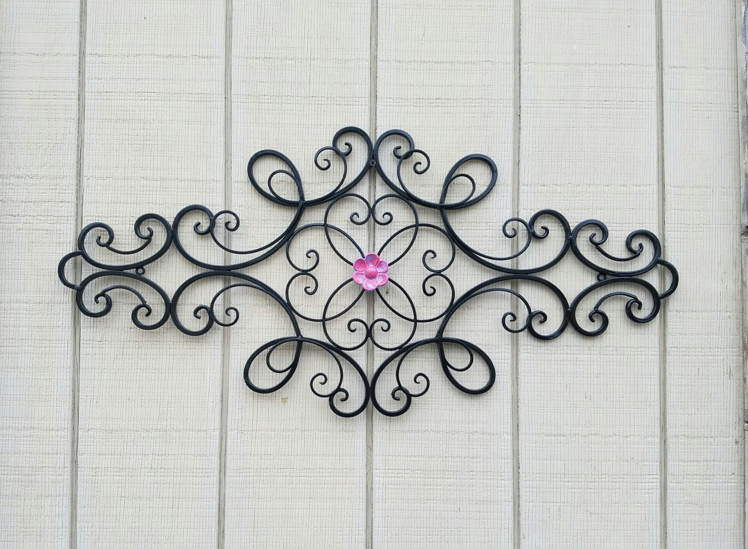 Wrought iron wall art metal wall art large metal wall art description this beautiful wrought iron wall dcor amipublicfo Gallery