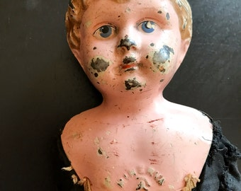 German, Minerva Tin Head Doll