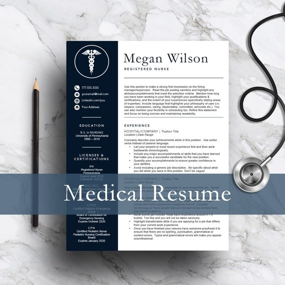 nurse resume template for word  u0026 pages 1 and 2 page resume