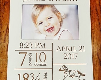 Birth Announcement Photo Frame, Baby Frame, 4x6 Frame
