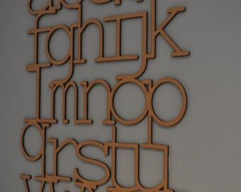 Laser Crafted Wooden Alphabet