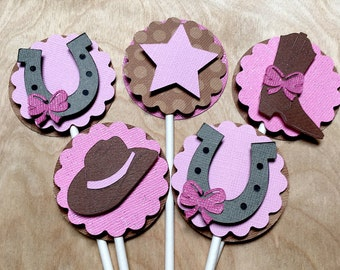 Cowgirl Candy Cups & Cupcake Toppers, Cowgirl Baby Shower, Cowgirl Birthday, Cowgirl Decorations, Set of 12