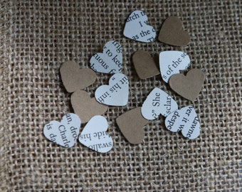 Heart confetti book and craft paper