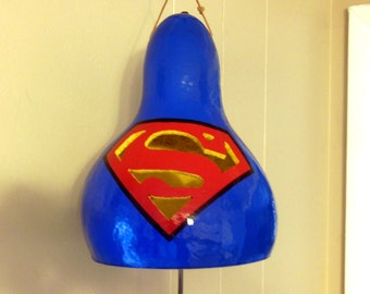 "Gourd Drum, Thunder gourd, ""Superman Gourd!"" Shake it and it sounds like Thunder!!"