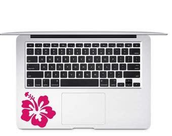 Hibiscus Decal -  Hawaiian Flower Decal - Hibiscus Laptop Decal - Hawaiian Decal - Flower Decal - Hibiscus Car Decal - Hibiscus Flower Decal