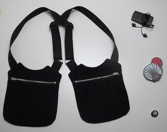 Women's holster bag in black jeans/black holster Bag