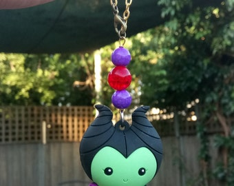 Maleficient Car rearview decor Beaded