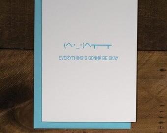 Table Flip - Letterpress Encouragement Greeting Card