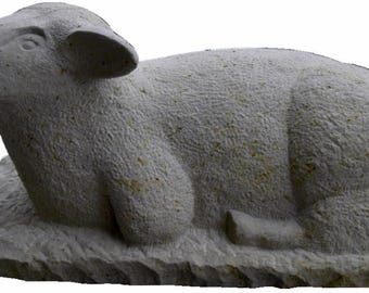 Sculpture of a sheep, handmade