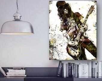 Slash Canvas, Guns n Roses Canvas, Guitar Canvas, Rock n Roll Canvas, Rock and Roll Art, Slash Guitar, Slash Guns n Roses, Axl Rose, Rocker