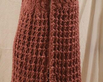Vintage Drapey Crochet Vest