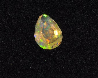 Mexican fire opal faceted
