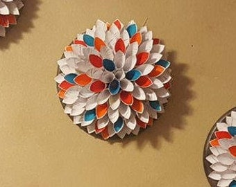 Paper Dahlia Art - Round