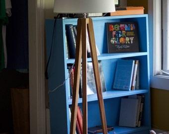 Tripod Floor Lamp—Custom hardwood modern tripod lamp