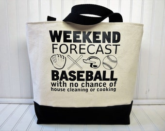 Baseball Bags - Baseball Mom- Baseball Tote - Baseball Tote Bag - Baseball Mom Bag - Monogram Baseball Tote - Baseball Mom Tote Bag
