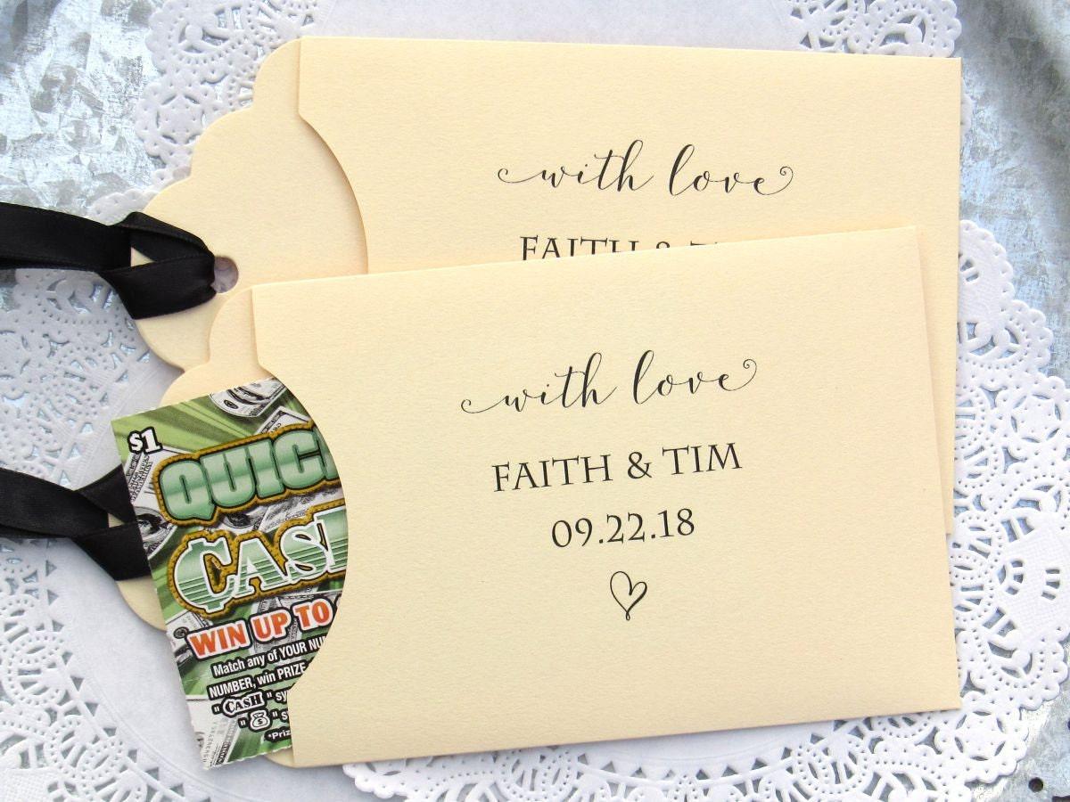 Unique Wedding Favors Wedding Guest Favors Wedding Lottery