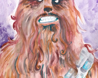 Chewbacca original watercolor