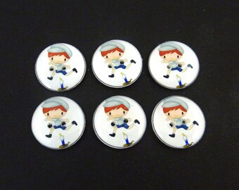 Nursery Rhyme Buttons. Handmade Buttons.  Jack Be Nimble Buttons for Sewing.